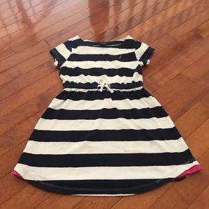 Nautica stripe dress. Kid size 6-7